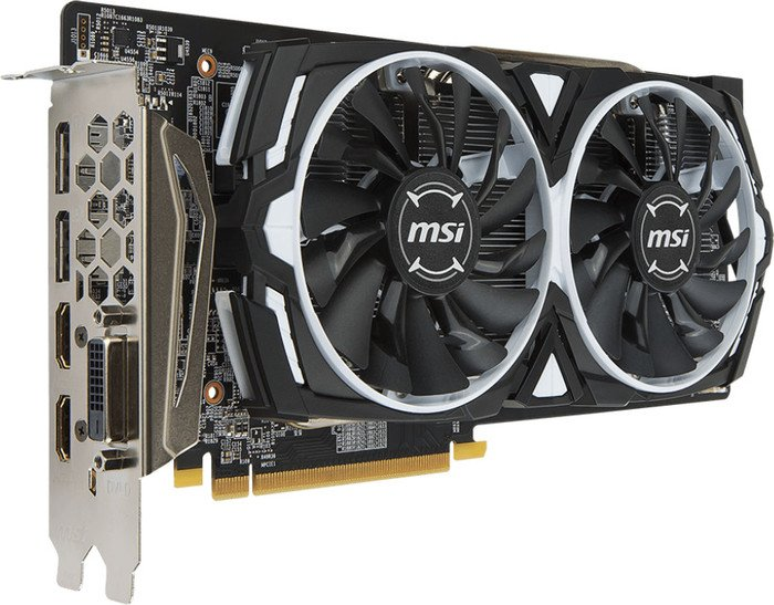 MSI Radeon RX 580 Armor 4G OC, 4GB GDDR5, DVI, 2x HDMI, 2x DP (V341-066R)