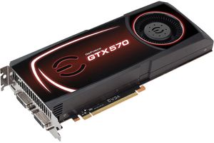 EVGA GeForce GTX 570 Superclocked+ Backplate, 1.25GB GDDR5, 2x DVI, mini HDMI (012-P3-1575)
