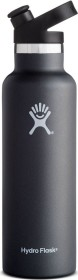 Hydro Flask 21 oz Standard Mouth Sports Cap Insulated bottle black