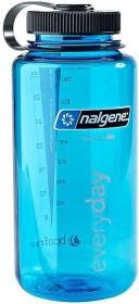 Nalgene Wide Mouth Trinkflasche 1l blau/schwarz (2178-2024)