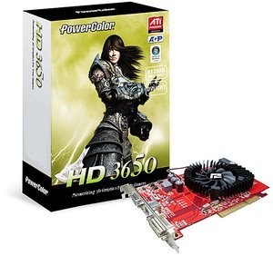 PowerColor AG3650 512MD2-V3, Radeon HD 3650, 512MB DDR2, VGA, DVI, TV-out (R63BG-HE3F)
