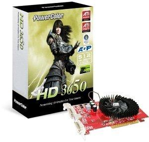 PowerColor AG3650 1GBD2-V2, Radeon HD 3650, 1GB DDR2, VGA, DVI, TV-out