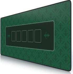 Titanwolf Pokermatte XXL Speed Gaming-mousepad, black/green