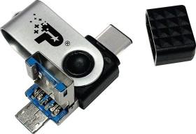 Patriot Trinity 64GB, USB-C 3.0/USB-A 3.0/USB 2.0 Micro-B (PEF64GTRI3USB)