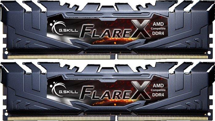 G.Skill Flare X black DIMM kit 32GB, DDR4-2400, CL15-15-15-39 (F4-2400C15D-32GFX)