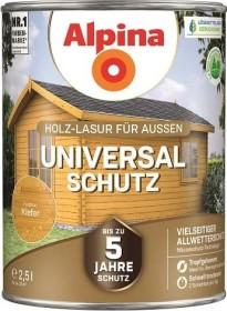 Alpina Farben Universal-Schutz Holz-Lasur außen Holzschutzmittel kiefer, 2.5l
