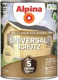 Alpina Farben Universal-Schutz Holz-Lasur außen Holzschutzmittel farblos, 2.5l