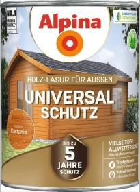 Alpina Farben Universal-Schutz Holz-Lasur außen Holzschutzmittel kastanie, 2.5l