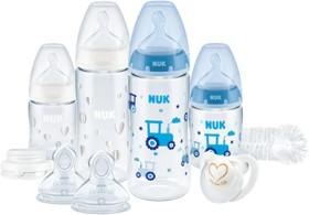 NUK First Choice Plus Perfect Start mit Temperature Control Trinkflaschen-Set, 0+ blau (10225200)